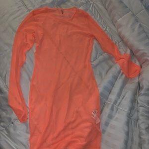 Mesh swim suit cover up